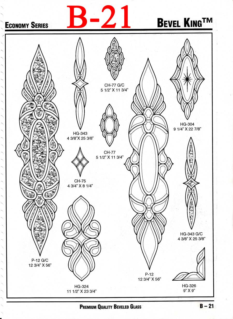 hollander glass    bevel king stock bevels